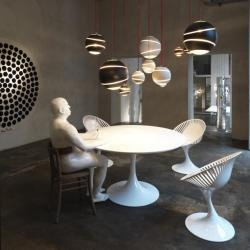 """One of the many events at this year's Salone del Mobile furnishings show in Milan was put on by the """"Glamour Design Store"""" ENTRATALIBERA."""