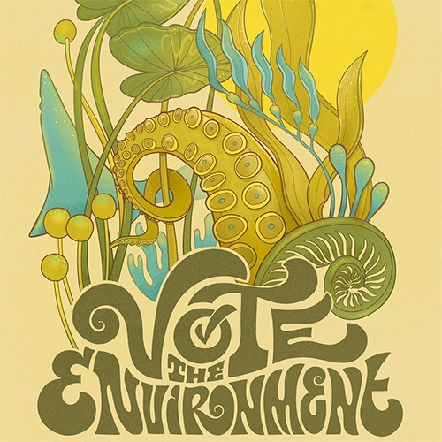 "PangeaSeed ""Vote The Environment"" Campaign - A global get-out-the-vote campaign that calls on artists and creatives from around the world to create artworks that inspire voters to cast their ballots with the welfare of the planet and people in mind."