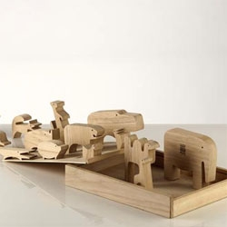 the classic enzo mari zoo puzzle features prominently in tomorrow's nytimes article on yves behar.