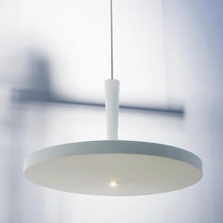 From Prandina, the Equilibre Fluo light, designed by Luc Ramael.