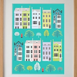Equilibriumart has a cute London houses poster.