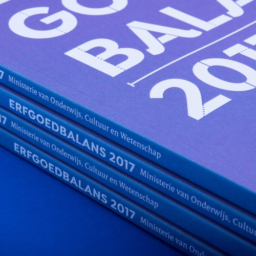 Erfgoedbalans 2017: Book design for the Dutch Ministry of Education, Culture and Science in the Netherlands by Studio DUEL.