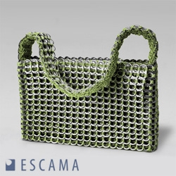 Not to forget the ESCAMA bags, made in brazil from recycled beer tabs.