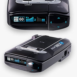 Escort Max 360 Radar Detector - The newest model has radar and laser detection, which direction it's coming from, your speed (vs speed limit), gps and more. They will even pay up to 2 speeding tickets! (See the fine print.)