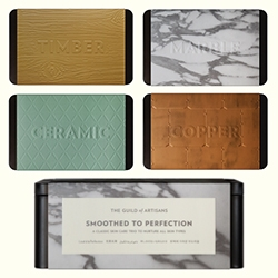 Aesop always has a fun packaging theme for their holiday gift sets and 2014 is all about The Guild of Artisans - featuring materials on each label.