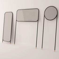 Designers La Mamba of Valencia will present this series of mirrors on legs at Tortona Design Week in Milan next month.