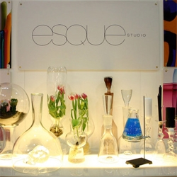 Portland-based Esque Studio makes mind-blowingly beautiful booth and blown glass.