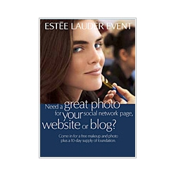 Interesting marketing concept ~ Estee Lauder gives women pretty Facebook profile pics through makeover sessions nationally