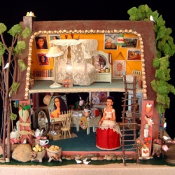 Frida Kahlo's Studio an amazing dollhouse by Elsa Mora