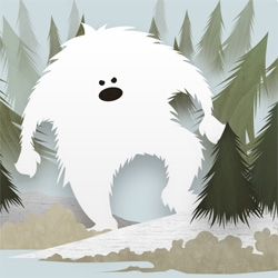 YETI! On fun holiday cards, love the wallpaper from Hooky Interactive! You have to see the full image!