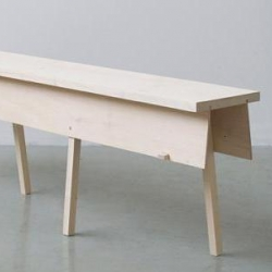 Simple bench by french designer Romain Diroux, Eto has no nails, no screws, and no glue. Only the natural spring of the wood holds these pieces together and ensures their stability.