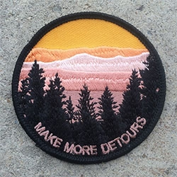 Lildownhill Make More Detours iron on patch