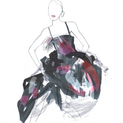 Eva Hjelte  is a Swedish Fashion illustrator with her very own style