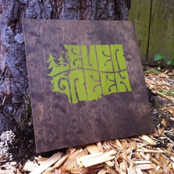 Evergreen wood prints.  Hand stained, hand pulled, only 5 made.