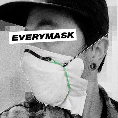 EVERYMASK by Roo Williams is a unique DIY mask design that uses a custom harness to tightly fit a sheet of filter material to a person's face. It follows NASA's ISRU principles, using common household tools/materials.