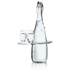 After the ready-to-wear edition of the bottle in 2008,  by Jean-Paul Gaultier, Evian works with Baccarat to create five exclusive limited edition bottles. 5 unique bottles dressed transparently to evoke Evian's best asset: purity.