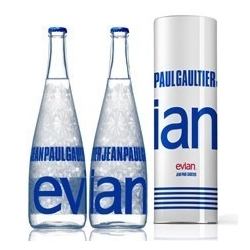 Evian has collaborated with Jean Paul Gaultier for a special Evian Bottle, nice!