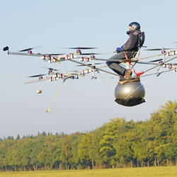 The e-volo personal helicopter, an electric multicopter.