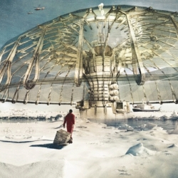 Derek Pirozzi's Polar Umbrella concept, buoyant super-structure to save the Arctic ice, wins the 2013 eVolo Skyscraper competition.