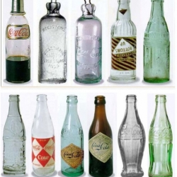 the evolution of the bottle of coca-cola