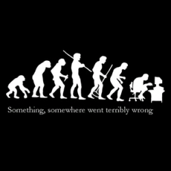Hehe this image of evolution cracks me up cos it's sadly true, no?