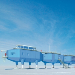 A polar ice station - part of a new book looking at Extreme Architecture from all over the world. Includes chapters on cold, high, wet and space.