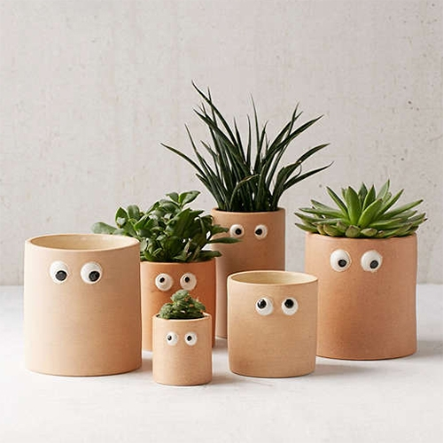 Henry Googly Eye Planters at Urban Outfitters. Made of earthenware. Unfortunately the eyes don't move though!