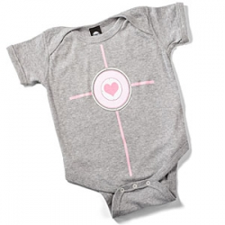 Companion Cube + Baby Onesie = Companion baby! Too cute - perfect for portal lovers.