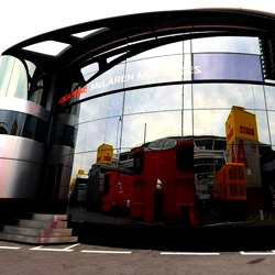 Every couple of weeks Formula 1 racing moves to a new country. Check out a collection of their mobile headquarters that have to be assembled at each track.