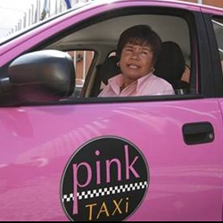 The new fleet of 35 cabs in Mexico's colonial city of Puebla are driven exclusively by women and don't stop for men. Each pink taxi comes with a beauty kit, a GPS system and an alarm button.