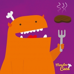 Monster Cuca, project by illustrator Thiagoegg  to encourage children to eat well and create their own dishes.