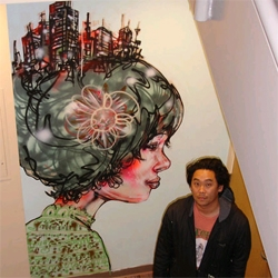 david choe paints the offices of facebook.  dont love all of it, but this one was pretty cool.