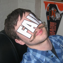 A little side project from the designers at Go Media.  Be like Oliver and buy some FAIL stickers.  Mustache not included.