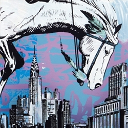 "Artist collective FAILE releases several new pieces of work in their comic inspired ""Lost in Glimmering Shadows"" art series. Three screenprints, three fine art pieces, and a bronze sculpture!"