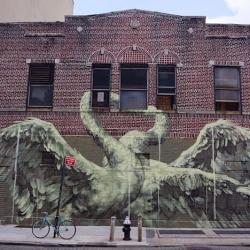 Psychic Power of Animals – New Mural by Faith47 in Manhattan / New York.