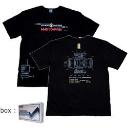 King Of Games makes the best shirts/hoodies from old games ~ here's the Famicom 20th Anniversary shirt, and the retro game boxes as packaging is brilliant as well!