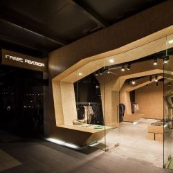 Australian architect Matt Gibson has designed a shop interior for the fashion retailer Fame Agenda, located in the Docklands of Melbourne, Australia.