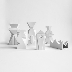 OLHO Vases in porcelain, by Cecile Mestelan, function as vases, and beautiful as sculptures.