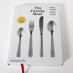 The Family Meal: Home Cooking with Ferran Adria showcases more than 100 dishes prepared and inspired by the very meals eaten by El Bulli staff daily before service began. Published by Phaidon.