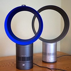 The new Dyson Cool Air Multiplier/Fan! Here's a first look at the new, 75% quieter, and 30% less energy version! Full unbox and look at the new remote, subtle display, and more!