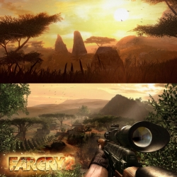 Far Cry 2 - For console and PC. Incredible and huge African environment. Free to go where-ever you want, and how-ever you want to complete the one mission; Hunt down and kill the Jackal.