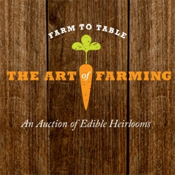 Sotheby's inaugural The Art of Farming, An Auction of Edible Heirlooms. Great mini site showing off the incredible lots and stories behind them! For local farmers, purveyors, celebrity chefs, and food industry experts to join together.