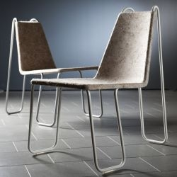 Finnish designer Timo Hoisko has created the Farmline chair out of a single metal tube and locally-produced hemp fiber.