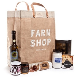 Farm Shop + Apolis bundle! Too much california deliciousness to list here... all wrapped up in a reusable Farm Shop/Apolis Market bag!