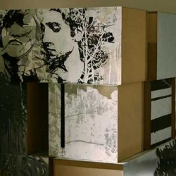 Alexandre Farto (aka Vhils) was just featured on wooster collective.  i really love his work...it's got so much depth to it...gorgeous street art.