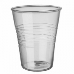 Love this clear glass take on the common plastic party cup.  Available at the A & R Store.