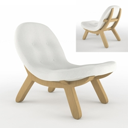 Lounge armchair designed by french designer Julien Vidame.