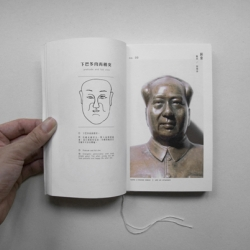 {the facebook} by Kila Cheung and Fun Fun Wong uses modern style to present 'physiognomic'. It records 57 people's facial photos, background, and analyzes their facial character.