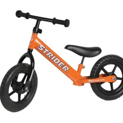 Strider bikes teach toddlers balance and coordination safely and without the fear that tricycles and training can bring. This creates a smooth transition to normal bike riding.