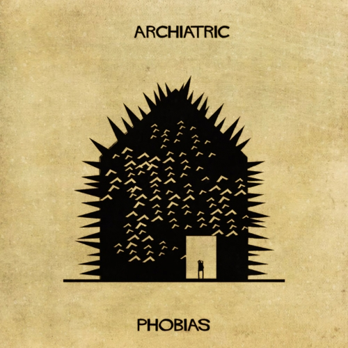 ARCHIATRIC the new illustrations by Federico Babina show when architecture meets psychiatric disorders.